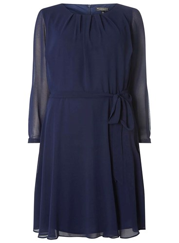 Dorothy Perkins Billie And Blossom Curve Navy Silk Shift Dress Blue exjt2U
