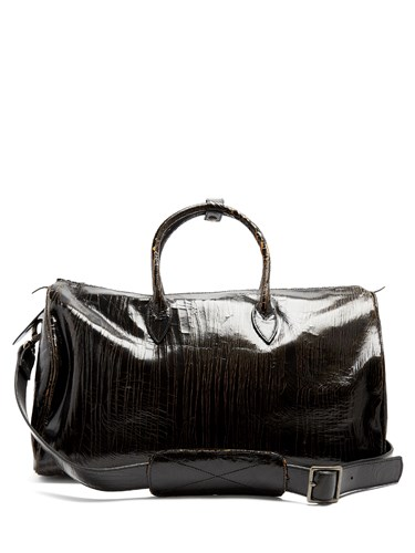 Marc Marmel Roberta Doctor's Cracked Leather Holdall Black slBISQqeUI
