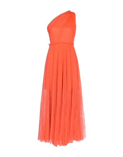 MSGM Long Dresses Orange QC2iswK4M