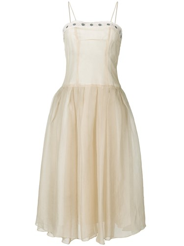 Romeo Gigli Vintage Full Midi Gown Nude And Neutrals 6uaS83iMrD