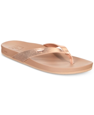 Reef Cushion Bounce Court Flip Flop Sandals Women's Shoes Rose Gold LB2yMJaBqc