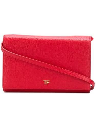 Tom Ford Crossbody Wallet Leather Red r9IUY3m