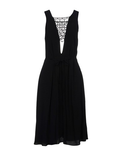 SANDRO Paris Knee Length Dresses Black jBiyiWaE