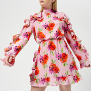 MSGM Women's Frill Detail Mini Dress Pink OBKol5Q