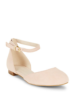 Kenneth Cole Willow Almond Toe Dorsay Flats Rose 6LmSNF