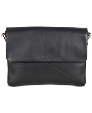 Kenneth Cole Reaction Bag Two Differ Faux Leather Double Compartment Bag Black xeszZigkt
