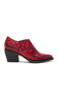 Chloé Rylee Python Print Leather Ankle Boots In Red Animal Print Red Animal Print owAsUvVgEP