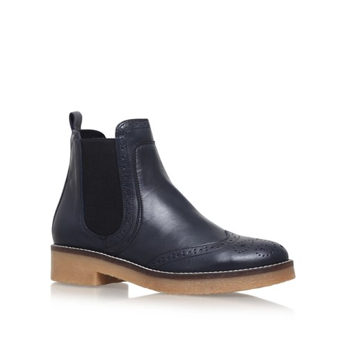 Carvela Slowest Flat Ankle Boots Navy u4xmGYKO