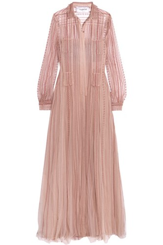 Valentino Embroidered Tulle Gown Pink gYZzrL