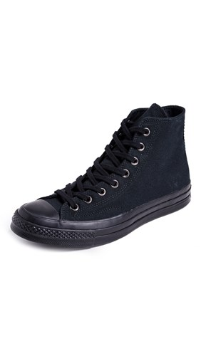 Converse Chuck Taylor 70S Monochrome High Top Sneakers Black eSQiXisH