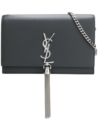 Saint Laurent Kate Tassel Cross Body Bag Grey PSKYKA7JTD
