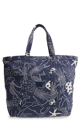 Abstract Island Blue Herschel Bamfield Tote Canvas zhaLkthv3c Cotton Supply 8w0F6