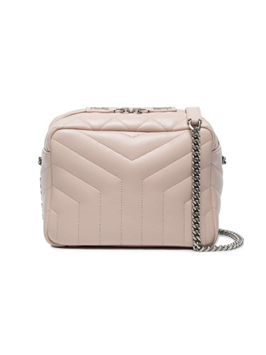 Saint Laurent Light Pink Monogram Lou Lou Quilted Leather Cross Body Pink And Purple VH6mP