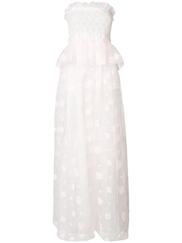 Si-jay Strapless Gown White 7pjDYOw6