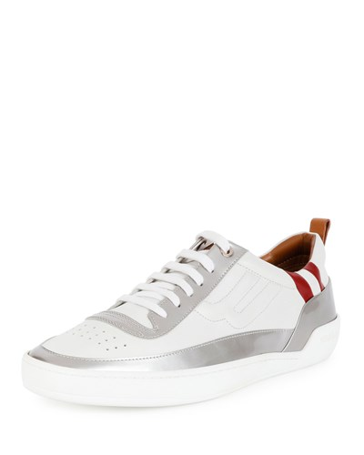 Bally Ethem Leather Lace Up Sneaker Silver White Men's sM4TejV