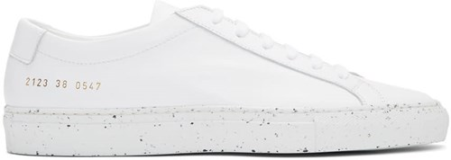 Common Projects White Achilles Low Confetti Sole Sneakers mSth9I