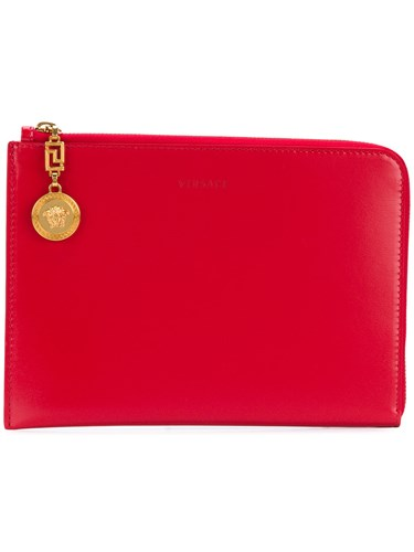 Versace Medusa Lock Clutch Bag Red PqogvhY1rS