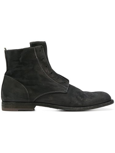 Officine Creative Zipped Fitted Boots Black md1zn
