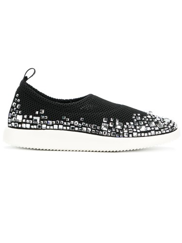 Giuseppe Zanotti Design Embellished Perforated Sneakers Black d8eqQZ