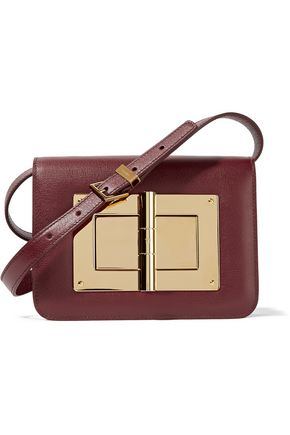Tom Ford Natalia Small Leather Shoulder Bag Burgundy Pu88RiA3Zp