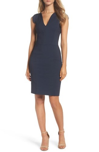 French Connection 'S 'Lolo' Stretch Sheath Dress Nocturnal lgClwV