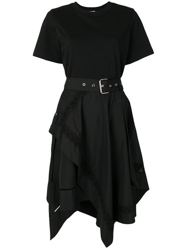 3.1 Phillip Lim Asymmetric Hem Flared Dress Black 1zA2oygV