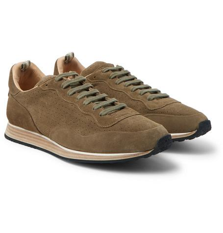 Officine Creative Keino Suede Sneakers Army Green ccf8pF