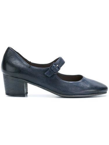 Pantanetti Pointed Mary Jane Pumps Calf Leather Leather Blue 3Ledfl