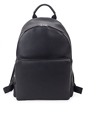 Anya Hindmarch Leather Backpack Indigo VMsUDxNj