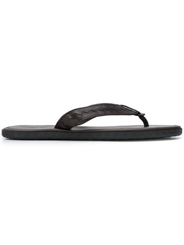 Bottega Veneta Basic Flip Flops Brown Q79ZPezA