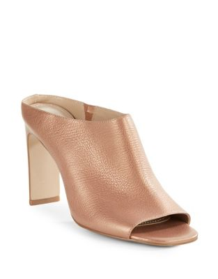 Charles by Charles David Goldie Leather Mules Rose Gold DihMJUzX