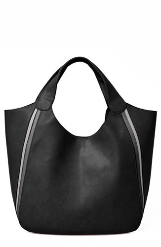 Urban Originals Viva Vegan Leather Tote With Removable Zip Pouch Black IC2xfq