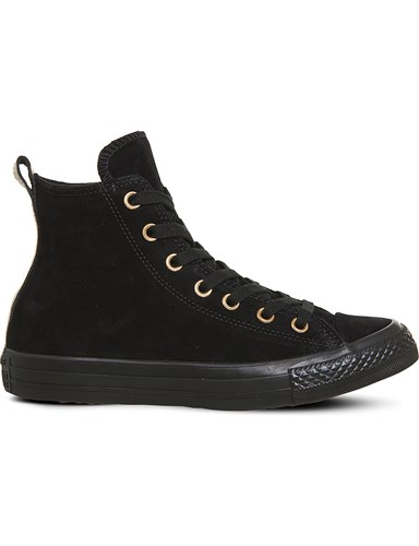 Converse Allstar High Top Leather Trainers Black Suede e9qbci
