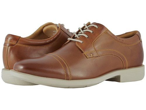 Nunn Bush Dixon Cap Toe Oxford With Kore Walking Comfort Technology Cognac Multi Shoes Tan 4vuumMC