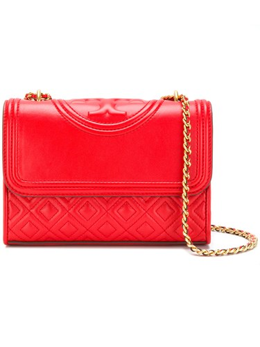 Tory Burch Fleming Small Convertible Shoulder Bag Leather Red dcInSp