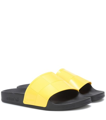 Raf Simons Adilette Checkerboard Slides Yellow ex9Nh