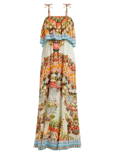 Camilla Slice Of Paradise Maxi Dress Orange Multi MnSazh5A8