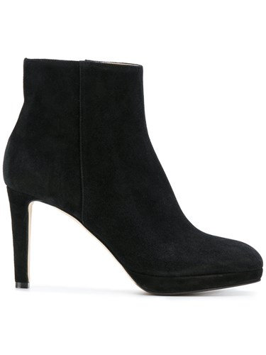 Sergio Rossi Heeled Ankle Boots Leather Suede Rubber Black iT5mRb7ZT3