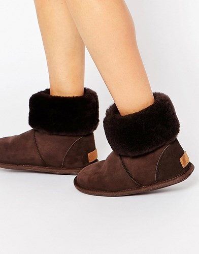 Just Sheepskin Albery Slipper Boots Chocolate Brown CY0iYDGe0