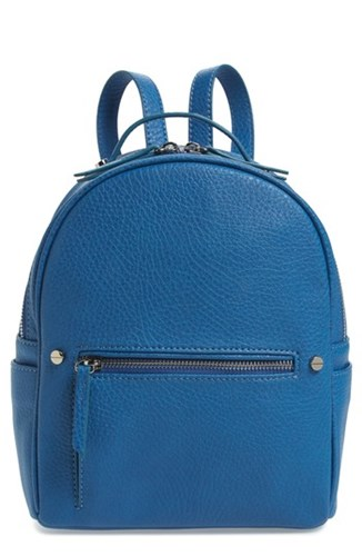 MALI AND LILI Hannah Faux Leather Backpack Blue French Blue w9HEkJpY