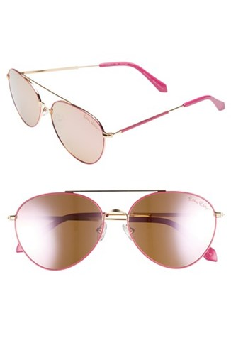 Isabelle 56Mm Polarized Metal Aviator Sunglasses Pink Pink Pink Pink