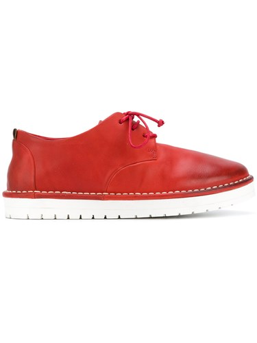 Marsèll Contrast Sole Lace Up Shoes Calf Leather Leather Rubber Red isnwaeXfWm