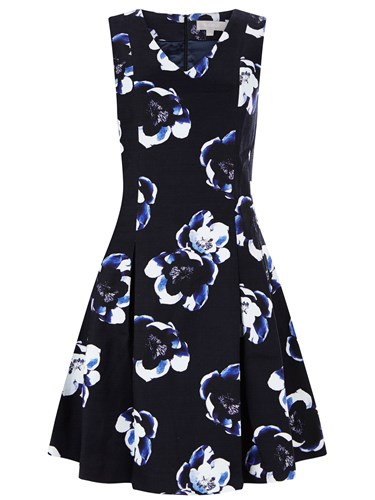 Havren Victoria Fit And Flare Dress Multi Coloured Multi Coloured Bs7dwRFt