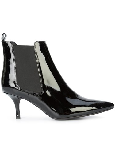 Anine Bing Pointed Toe Ankle Boots Black THOBgGoV