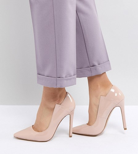 Lost Ink Patent Court Shoes Beige BhhGjlQli