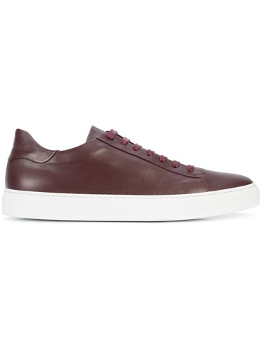 Wings + Horns Court Low Sneakers Leather Rubber Red VsWaiUQos