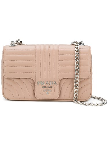 Prada Bevelled Shoulder Bag Leather Nude Neutrals hP80ydm