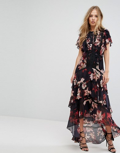 Forever New Floral Printed Maxi Dress Multi HTunkc9Mf