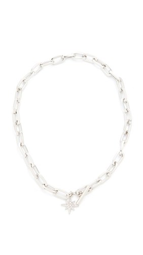 Signature Link Star Charm Necklace Silver