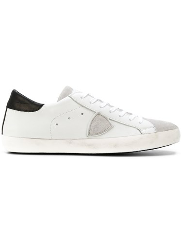 Philippe Model Logo Patch Lace Up Sneakers Leather Rubber White kgwMQvc1